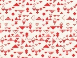 Fabric with a geometric design - Shape red