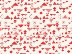"""Stoff mit geometrischem Muster - """"Shape Red"""""""