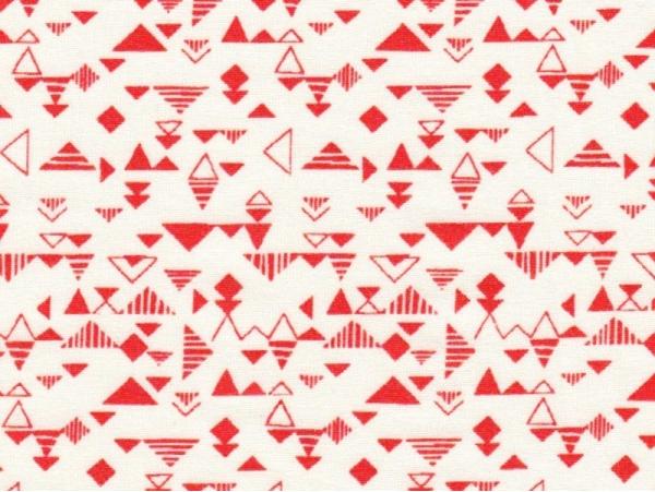 Tissu géométrique -  shape red