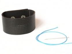 Bracelet Large à broder - Noir
