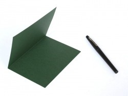 1 Bogen Briefpaper - dunkelgrün