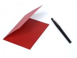 1 Bogen Briefpaper - rot