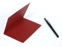 1 sheet of letter paper - bordeaux