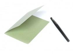 1 feuille de papier à lettre -  Vert pâle
