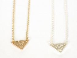 Collier fin Superwoman  -  métal argenté  - 2