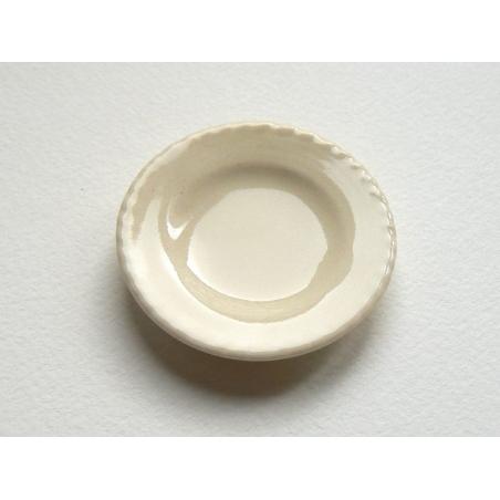 Plat rond crème  - 3