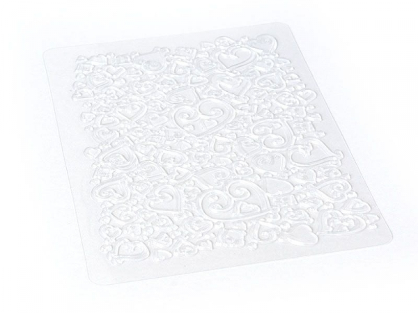 Plaque de texture Coeurs