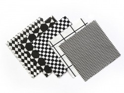 20 Coupons de tissu 13,5 x 13,5 cm - 5 motifs