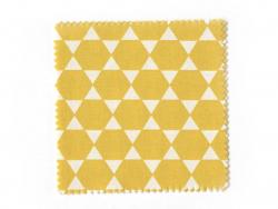 20 Stoffreste (13,5 cm x 13,5 cm) - 5 pastellfarbene, graphische Motive