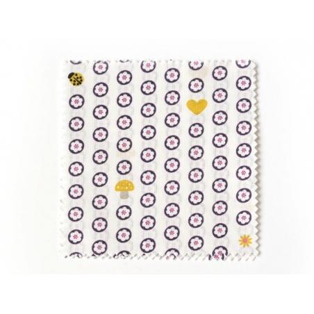 20 Coupons de tissu 13,5 x 13,5 cm - 5 motifs Romantique