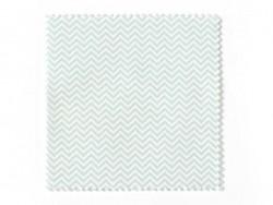 20 Coupons de tissu 13,5 x 13,5 cm - 5 motifs Zig Zag