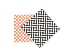 20 Coupons de tissu 13,5 x 13,5 cm - 5 motifs Noir/ Blanc/ Fluo