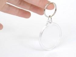 Support porte clés transparent - rond