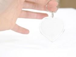 Acheter Support porte clés transparent - coeur - 1,29€ en ligne sur La Petite Epicerie - 100% Loisirs créatifs
