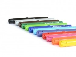 Pen case with 12 jumbo colouring markers