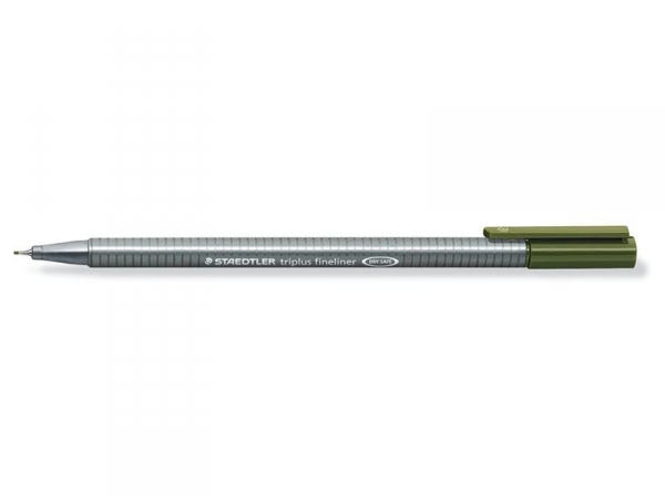 stylo d'écriture Triplus fineliner 0,3 mm - Vert olive
