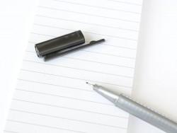 stylo biseauté 0,3 mm - Noir