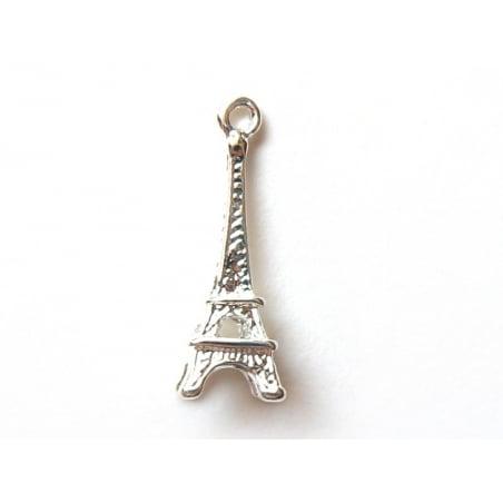 Acheter 1 breloque tour eiffel - couleur argentée clair - 0,39€ en ligne sur La Petite Epicerie - 100% Loisirs créatifs