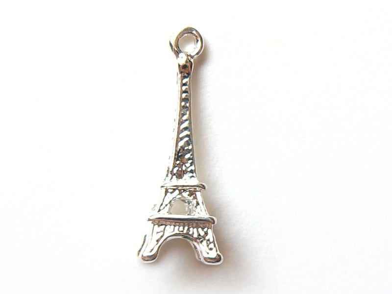 1 Eiffel Tower charm - light silver-coloured