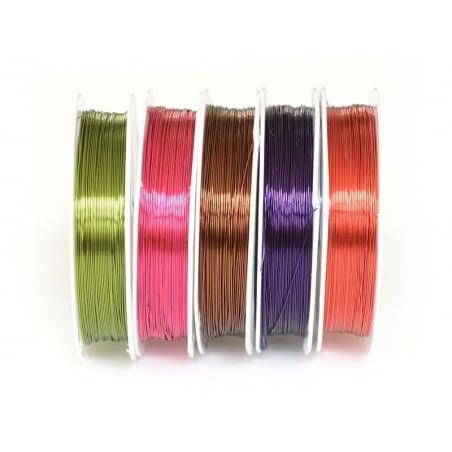 Acheter 10 rouleaux de fil aluminium 0,4 mm - colorés - 11,90€ en ligne sur La Petite Epicerie - Loisirs créatifs