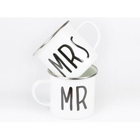 """Acheter Lot de 2 Mugs """" Mr & Mrs"""" - 14,90€ en ligne sur La Petite Epicerie - Loisirs créatifs"""