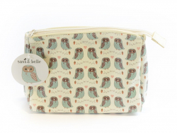 Pencil case with a design - Owls in love