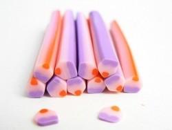 Cane cupcake violette et rose