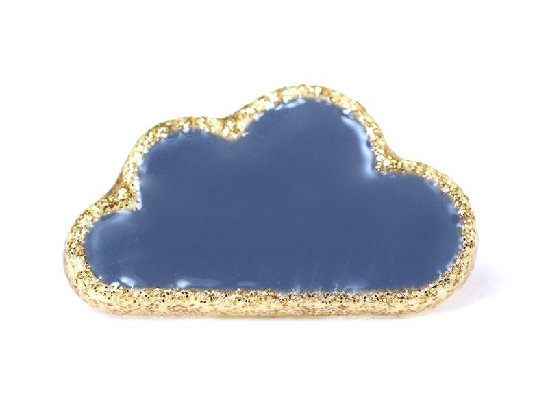 Acheter 1 Bouton en forme de nuage- Bleu et doré - 2,09€ en ligne sur La Petite Epicerie - 100% Loisirs créatifs