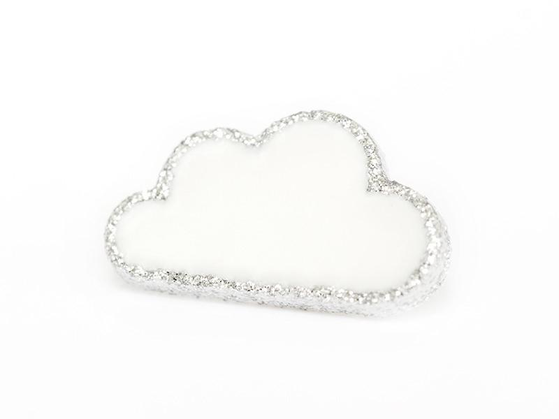 Acheter 1 Bouton en forme de nuage- Blanc et argenté - 2,09€ en ligne sur La Petite Epicerie - 100% Loisirs créatifs