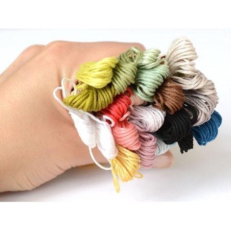 Set of 24 embroidery skeins - Pastel colours