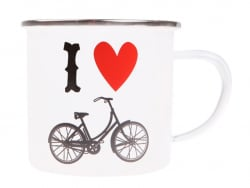 "Mug  ""I love bicycle"""