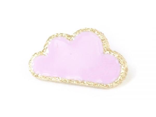 1 Bouton en forme de nuage- Rose pâle et doré Frou-Frou - 1