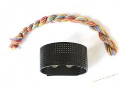 Kit for an emroided bracelet - zigzag
