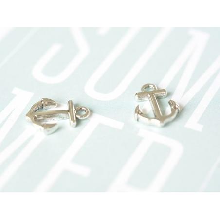 1 ship anchor charm - dark silver-coloured