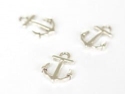 1 ship anchor charm - dark silver-coloured