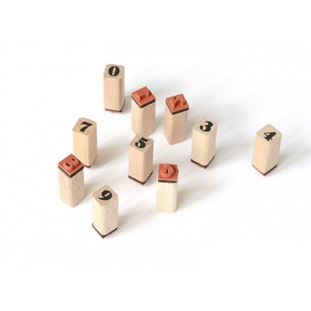 Acheter Tampons lettres romanes et chiffres avec encreur noir - 48 caractères - 13,90€ en ligne sur La Petite Epicerie - Loi...