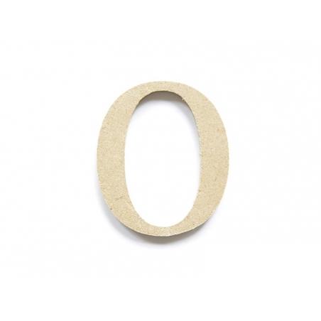Chiffre 0 à customiser - en papier mâché à customiser