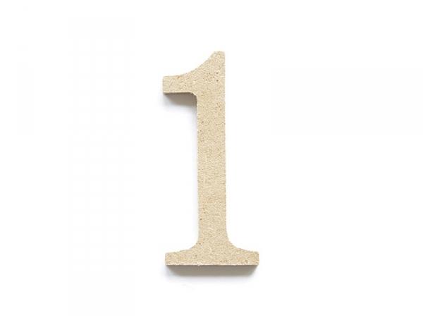 Customisable papier mâché number - 1