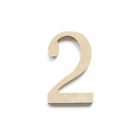 Customisable papier mâché number - 2