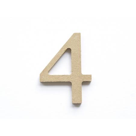 Acheter Chiffre 4 à customiser - en papier mâché - 0,89€ en ligne sur La Petite Epicerie - Loisirs créatifs