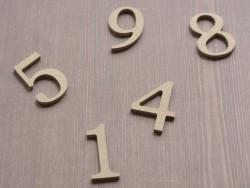 Die Zahl 5 zur individuellen Gestaltung - aus Pappmaschee