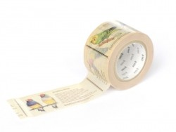 Patterned Masking Tape(30 mm) - bird encyclopedia