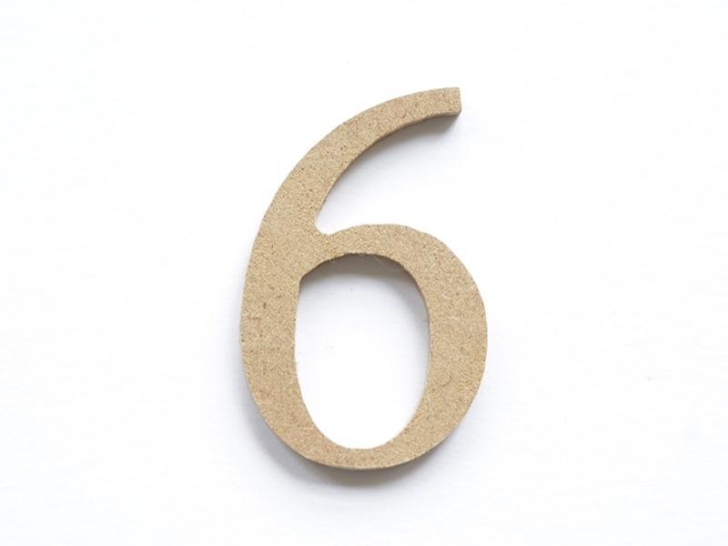 Acheter Chiffre 6 à customiser - en papier mâché - 0,89€ en ligne sur La Petite Epicerie - Loisirs créatifs