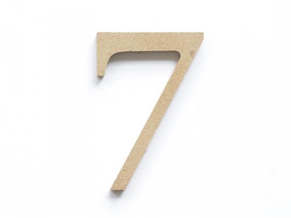 Chiffre 7 à customiser - en papier mâché