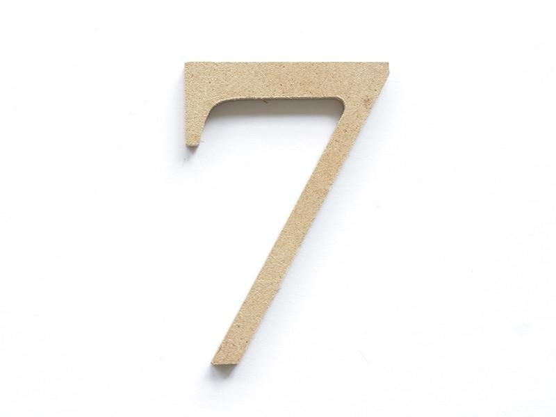 Customisable papier mâché number - 7