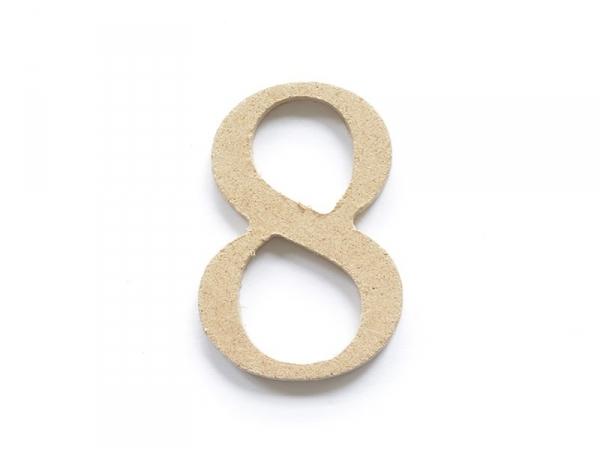 Customisable papier mâché number - 8