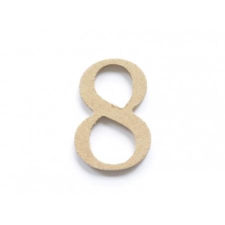 Acheter Chiffre 8 à customiser - en papier mâché - 0,89€ en ligne sur La Petite Epicerie - 100% Loisirs créatifs
