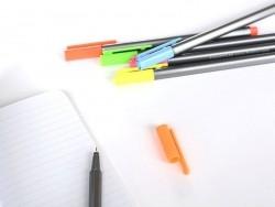 Set de 6 stylos Triplus fineliner - Fluo