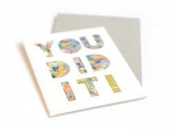 "Card with confetti - ""You did it"""