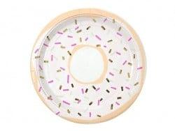 8 runde Pappteller (23 cm) - Donuts